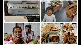 Veg Lunch routine/What i packed for husband's lunch and dinner box/Kitchen cleaning routine