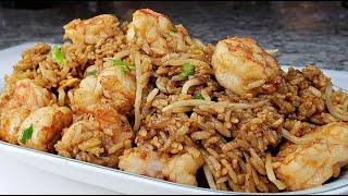 SHRIMP FRIED RICE | Easy Shrimp Fried Rice Recipe | Chinese Take Out Fried Rice