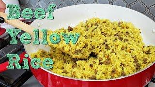 Ground Beef and Yellow Rice Recipe | One Pot Meal Idea | Simply Mama Cooks