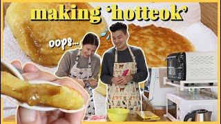 Making HOTTEOK | Stuffed Sweet Korean Pancakes | Korean Street Food