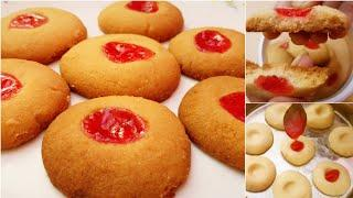 Jam cookies recipe | very easy cookies recipe without oven | cookies recipe at home | jam biscuit