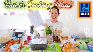 ALDI Batch Cooking & Freezing MEAL PLAN & HAUL 2021 | Healthy & Easy Meal Prep On a Budget