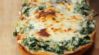How To Make Spinach And Artichoke Garlic Bread • Tasty Recipes