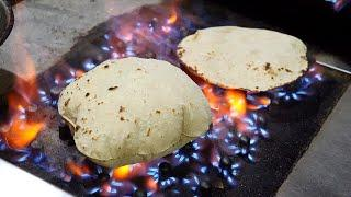 빵빵한 카레 빵 / grilled curry bread - naan / indian street food