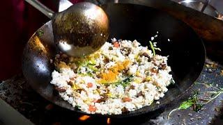 Chinese Street Food - $1.5 BEST EGG FRIED RICE Awesome Wok Technique
