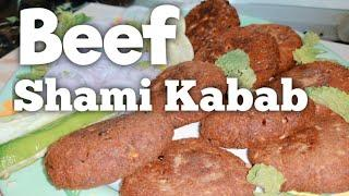 Beef Shami Kabab | with English subtitle | Urdu/Hindi recipes step by step | Cooking Madness