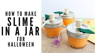 Halloween Slime Recipe Party Favor