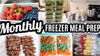EASY MONTHLY FREEZER MEAL PREP RECIPES COOK WITH ME LARGE FAMILY MEALS WHATS FOR DINNER ACEKOOL