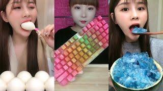 [ASMR] MOST POPULAR FOODS and EATING ICE (crunchy sounds) SATISFYING