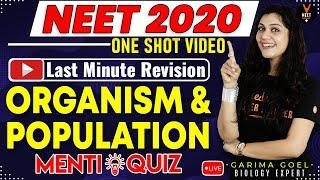 Organism and Population Class 12 Questions and Answers | NEET 2020 Preparation | NEET Biology