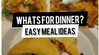What's for dinner? Easy meal ideas