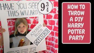 HOW TO THROW A HARRY POTTER PARTY | DIY HARRY POTTER PARTY DECORATIONS | HARRY POTTER FOOD IDEAS