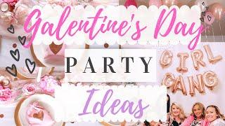 Dollar Tree Galentines Party! How to host a party on a budget/Clean with me +Valentines Party Decor