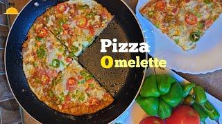 Perfect Egg Potato Omelette for Breakfast | Pizza Omelette Recipe without Cheese | Food & Art