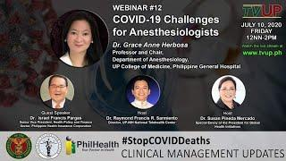 Webinar #12 | COVID-19 Challenges for Anesthesiologists