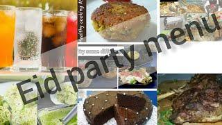 Eid party menu || 4 different menu 10 different recipe's ideas in every menu ||by healthy cooking