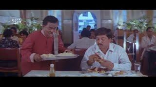 Vishnuvardhan Orders Full Menu Meals in Hotel | Comedy Scene of Mojugara Sogasugara Kannada Movie