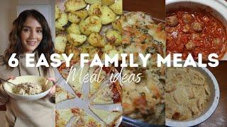 6 FAMILY MEAL IDEAS & 2 DESSERTS | SLOW COOKER MEALS + SIMPLE RECIPES