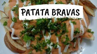 PATATAS BRAVAS | TAPAS | POTATO SNACKS | POTATO RECIPE | POTATO STARTER | POTATO APPETIZER