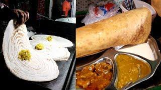 Best Street Food at Night Time Special Tasty Chicken Masala Dosa @ Tk 100 !! How to Make Dosa?