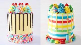 My Favorite Buttercream Cake Decorating Ideas Techniques - Yummy Birthday Cake Recipes