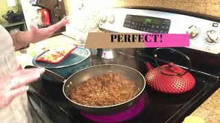 ENGLISH .....cooking GROUND BEEF,,,,AND A NEW DISH