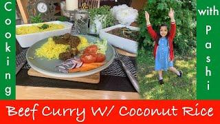 EASY EID SPECIAL Beef Curry and Coconut Rice Recipe | Urdu/Hindi/English | Cooking with Pashi