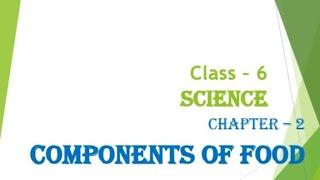 Components of food ( Hindi + English EXPLAINED) Class - 6