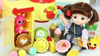 Baby doll cafe shop cooking toys 콩순이 카페놀이 아기상어 장난감