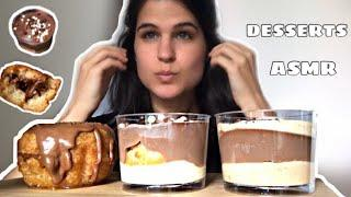 ASMR | CHOCOLATE DESSERTS | MINI PROFITEROLES SYRUPY DONUT | EATING SOUNDS