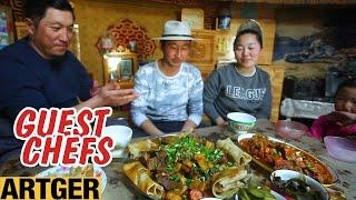 Khan's Kitchen Tests Korean Cooking Skills with Mongolian Nomad Family! | Guest Chefs