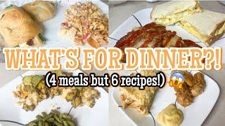 What's For Dinner | 4 Easy Weeknight Dinners | Real Life Meal Ideas | Family Meals of the Week