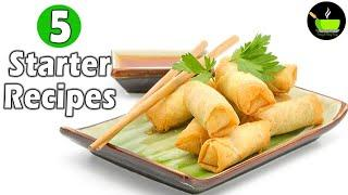 Starters Recipes | Appetizer Recipes | Quick & Delicious Party Starters | Party Snacks Idea
