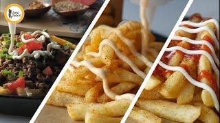 French Fries 3 Flavorful ways - Recipes By Food Fusion
