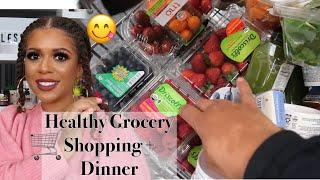 HEALTHY GROCERY SHOPPING + QUICK MEAL IDEA | What I Eat To Lose Weight VLOG