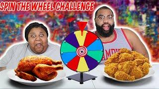 SPIN THE MYSTERY WHEEL CHALLENGE| BIZZARE CHICKEN EDITION| funny| spinning wheel