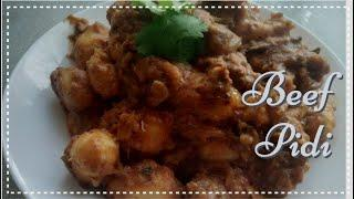 Rice Dumplings in Beef Curry (Beef Pidi) ||South Indian Dish-in English