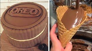 Most Satisfying Chocolate Cake Decorating Compilation | So Yummy Desserts Chocolate