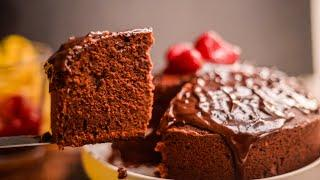 How To Make Perfect Chocolate Cake Without Oven Or In Oven | No Oven Chocolate Butter Cake Recipe