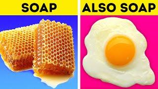 FOOD VS. SOAP || Funny DIYS and Crafts