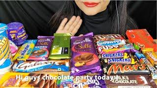 ASMR:CHOCOLATE PARTY DIARYMILK CRISPELLO,MARS,GALAXY,SILK OREO,AMUL CHOCOLATE *EATING CHOCOLATE*