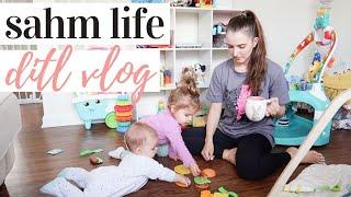 DAY IN THE LIFE WITH A BABY AND A TODDLER 2020 | Target haul, baby led weaning + crawling update