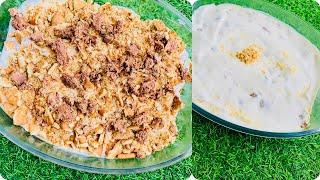 Crunchy creamy pudding | crunchy biscuit pudding #desserts #shorts #mallufoodstories #iftarsnacks