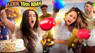 LEXI's 15th Birthday Mission: Knockout the Aunt! (FV Family Boxing Vlog)