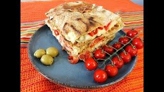 Quick Breakfast Quesadillas. Super Easy And Delicious Recipe With Cheese, Tomatoes & Bell Pepper