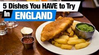 British Food Tour - 5 Dishes You HAVE to Try in England! (Americans try British food)