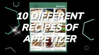10 Different Recipes Of Appetizer