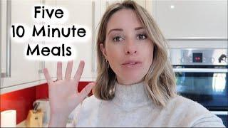 FIVE 10 MINUTE MEALS | QUICK & EASY MEALS | KERRY WHELPDALE