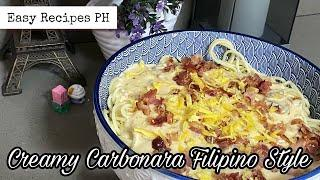 Creamy Carbonara Filipino Style | Easy Recipe | Party Food Idea