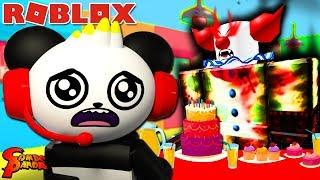 SURPRISE BIRTHDAY PARTY ! Scary Roblox Birthday Party Let's Play with Combo Panda
